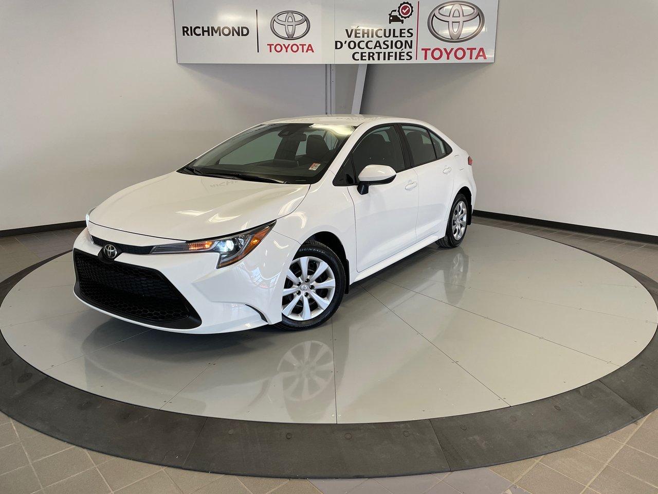 Toyota Corolla 2020 LE Gr:A *BAS KILOMÉTRAGE*