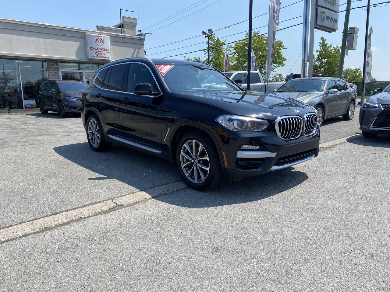 BMW X3 2019 Cuir NEVADA - Toit - GPS - Prix révisé