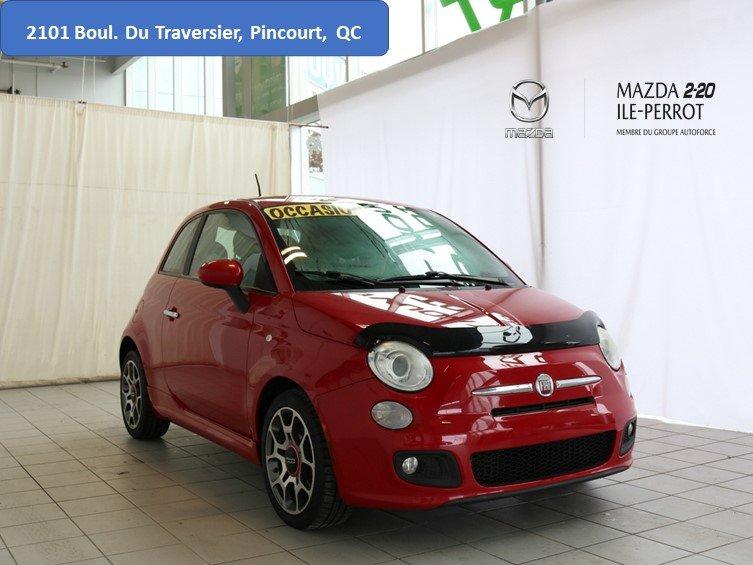 2012 Fiat  500 SPORT BANCS CHAUFFANTS EN CUIR BONNE ÉTAT