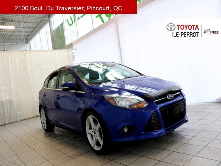 2013 Ford  Focus TITANIUM, HAYON, A/C, CUIR, NAVI, TOIT, BLUET