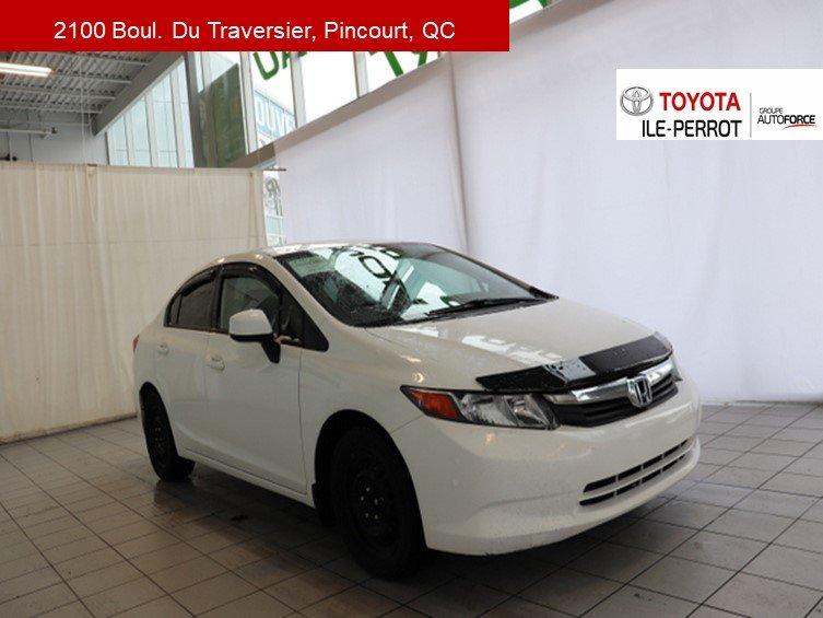 2012 Honda  Civic Sdn LX, A/C, GR ELEC, CRUISE