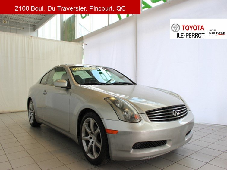 2003 Infiniti  G35 coupe A/C, CUIR, MAGS, GR ELEC, CRUISE
