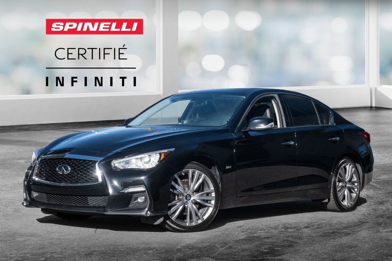 Infiniti Q50 2019 SPORT / AWD/ TOIT OUVRANT / CUIR / SIEGE CHAU
