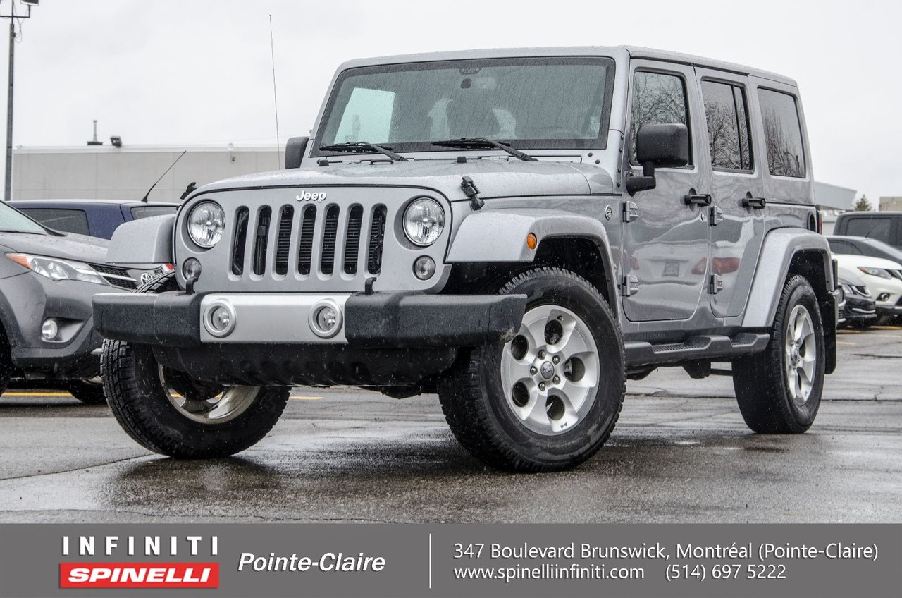 jeep wrangler unlimited 2015 d 39 occasion vendre chez spinelli infiniti pointe claire. Black Bedroom Furniture Sets. Home Design Ideas
