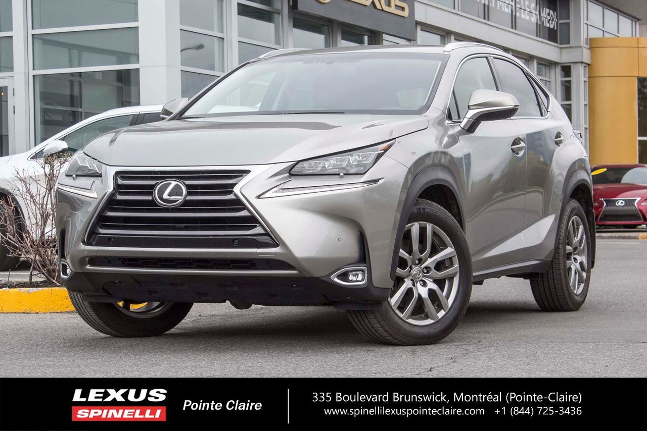 lexus nx 200t 2015 d 39 occasion vendre chez spinelli lexus pointe claire. Black Bedroom Furniture Sets. Home Design Ideas