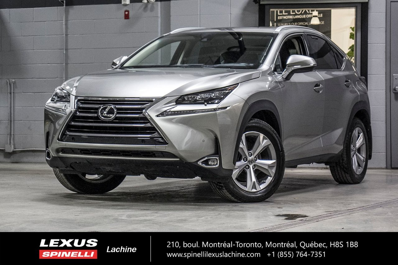 2017 Lexus  NX 200t EXECUTIVE AWD; CUIR TOIT GPS ANGLES MORT LSS+