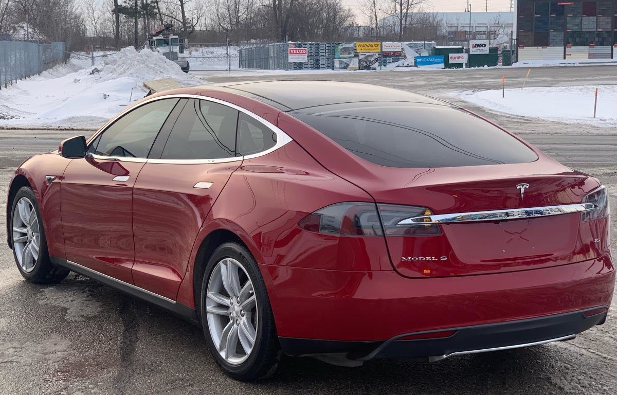 2014 Tesla  Model S S85 460-500 KM AUTONOMIE WOW