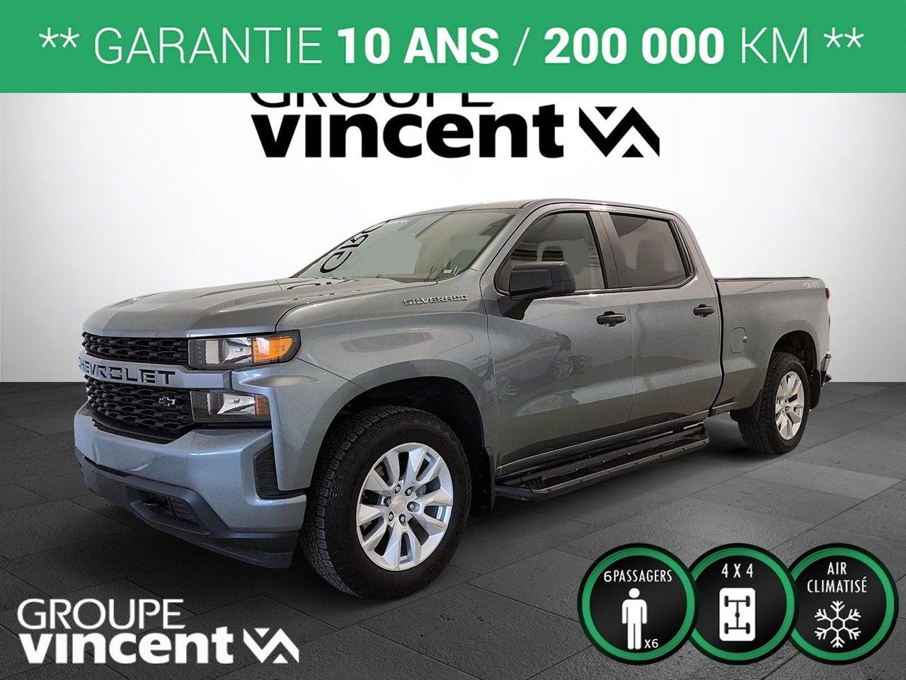 Chevrolet Silverado 1500 2019 1500 CUSTOM 4X4 CREW CAB ** GARANTIE 10 ANS *