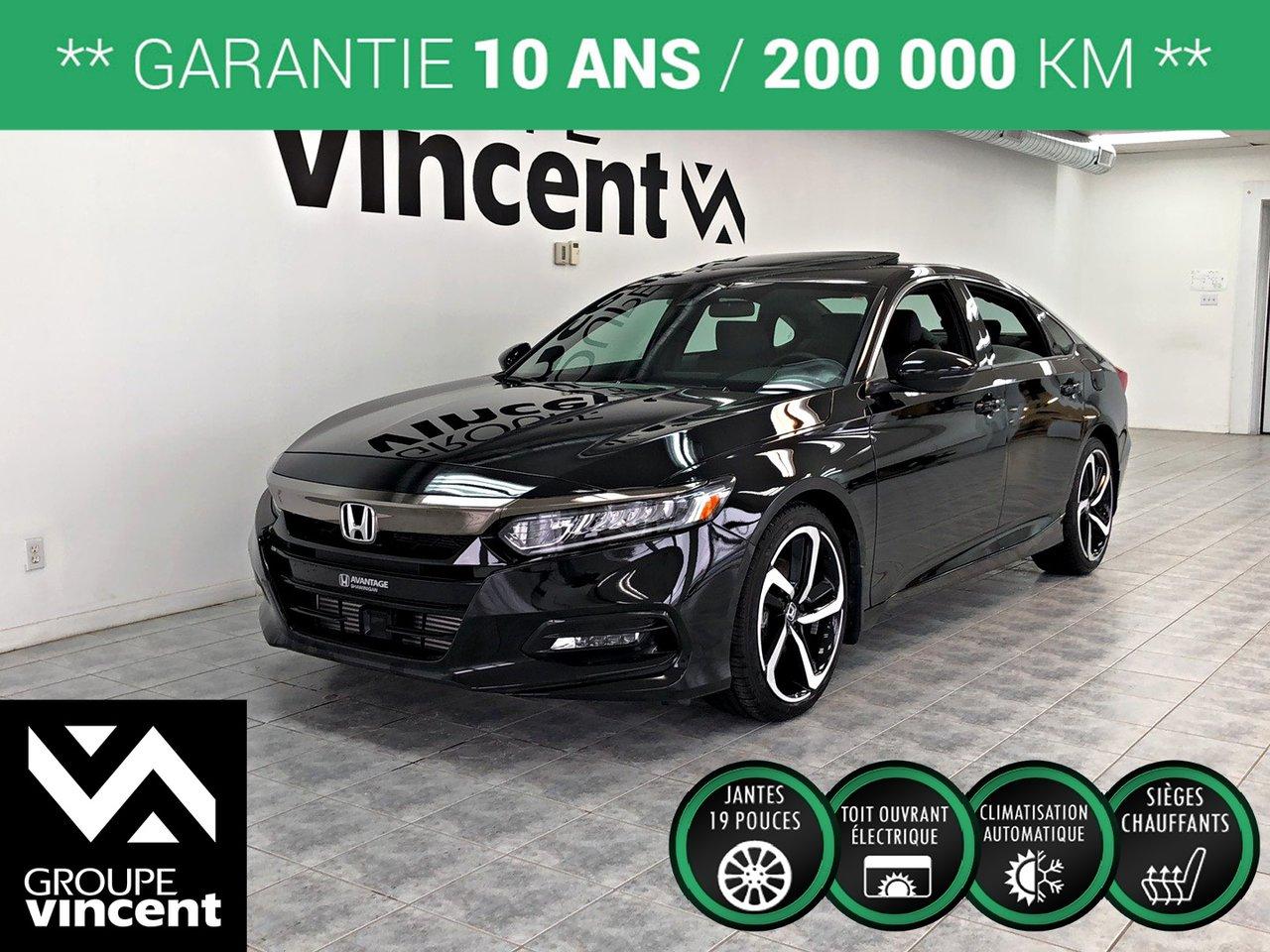 2018 Honda  Accord Sport ** GARANTIE 10 ANS **