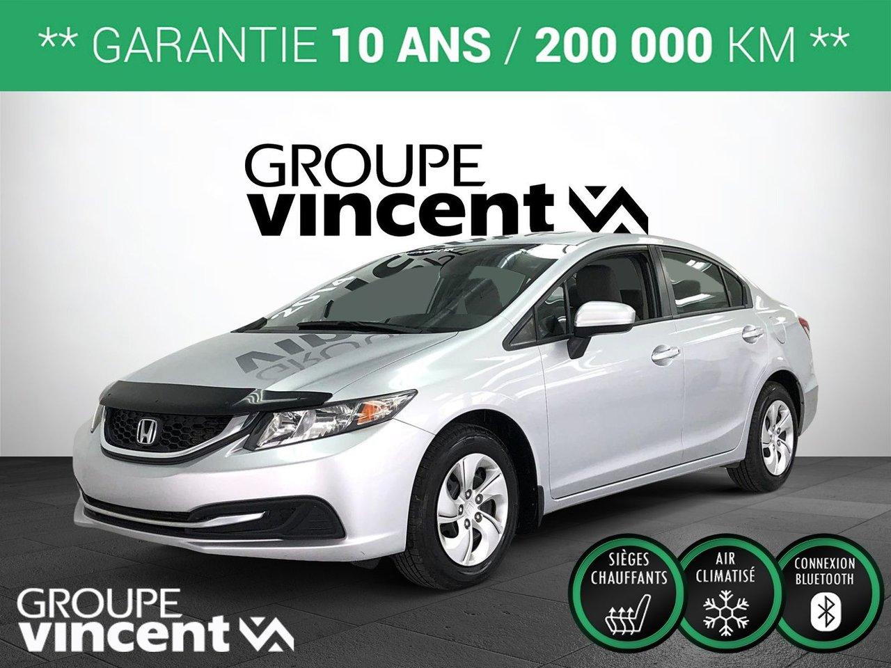 Honda Civic 2014 LX ** GARANTIE 10 ANS **