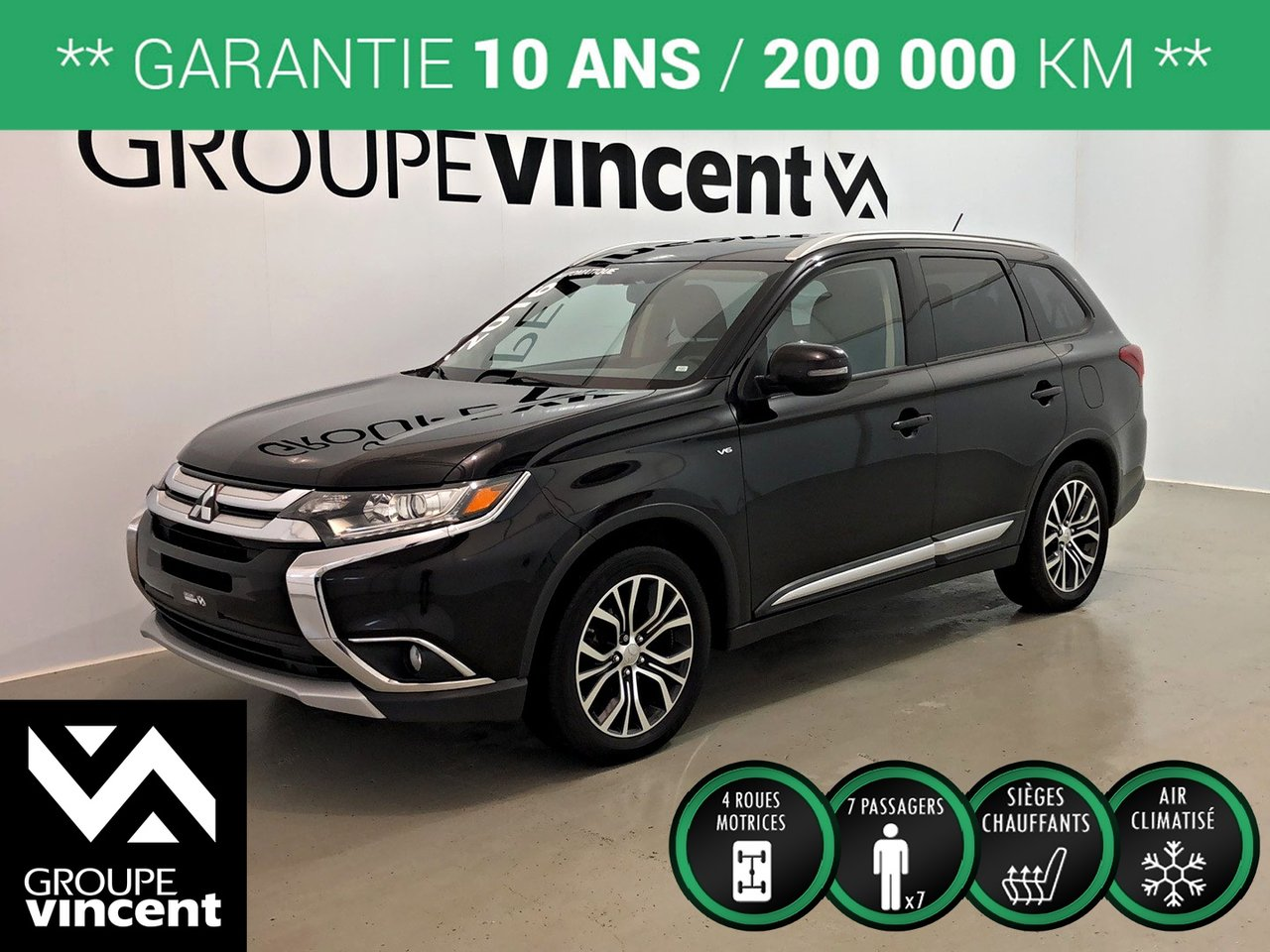 2016 Mitsubishi  Outlander SE AWD 7 PASSAGERS ** GARANTIE 10 ANS **