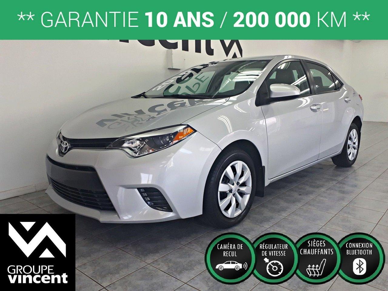 2016 Toyota  Corolla LE ** GARANTIE 10 ANS **