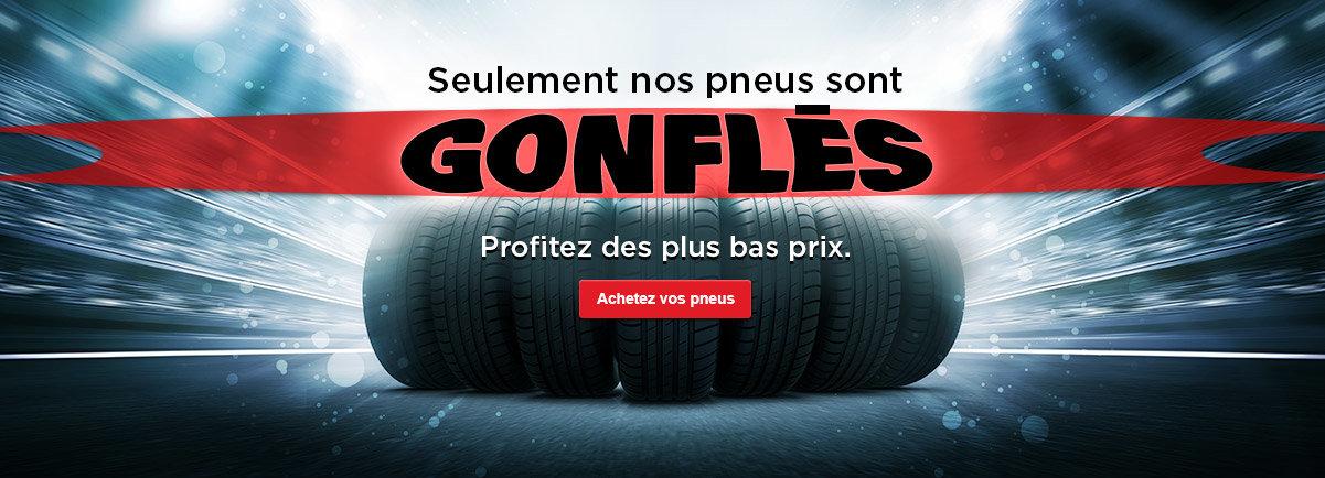 Seulement nos pneus sont gonflés