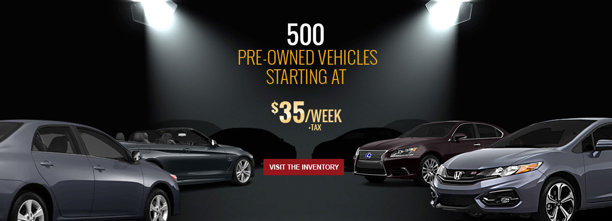500 Pre-owend vehicles
