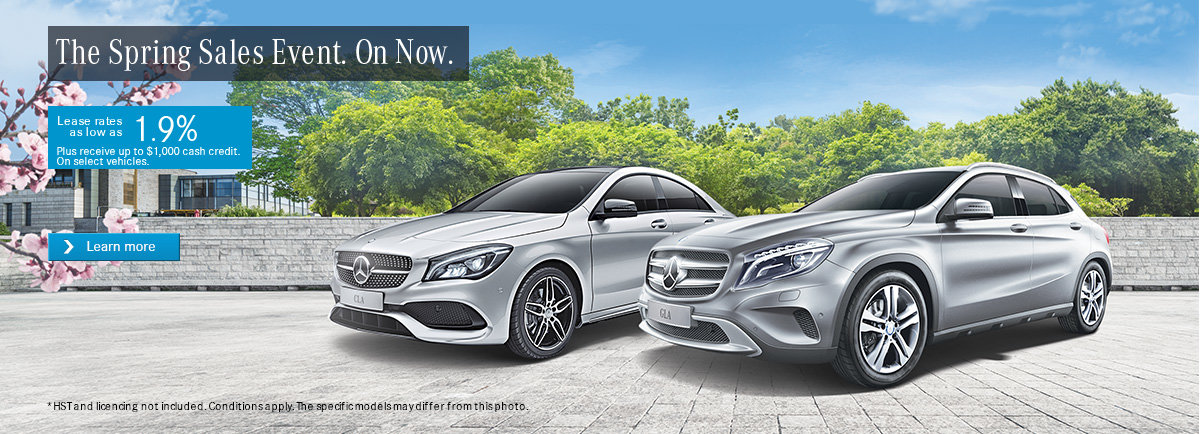 Mercedes Monthly Sales Event