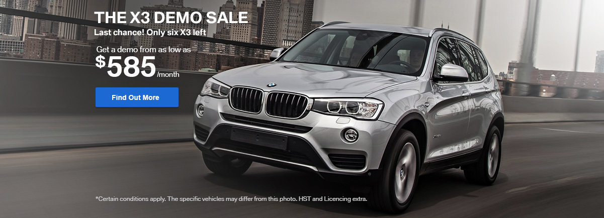 The X3 Demo Sale