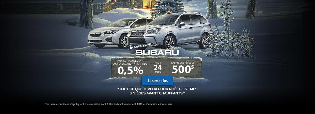 Je crois en Subaru - décembre