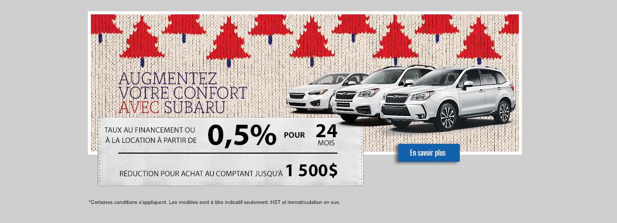 Augmentez votre confort avec Subaru - février