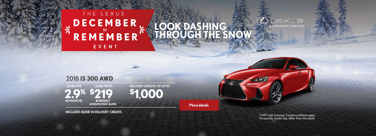 The Lexus December to Remember Event - IS