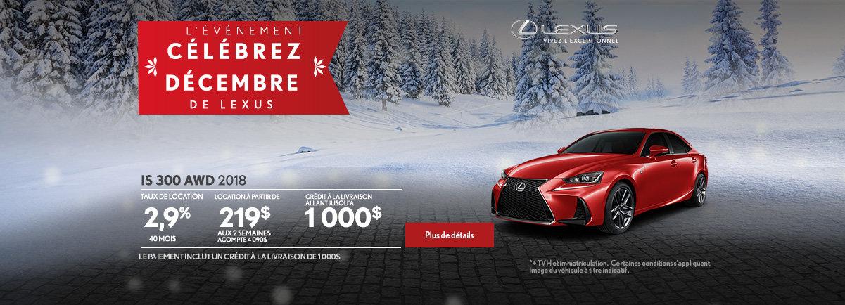 L'événement Célébrez décembre de Lexus - IS