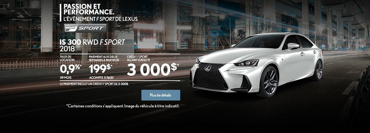 PROCUREZ-VOUS LA LEXUS IS 300 2018! (web)