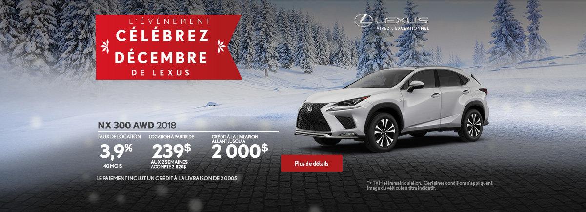 L'événement Célébrez décembre de Lexus - NX