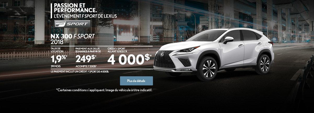 PROCUREZ-VOUS LA LEXUS NX 300 2018! (web)