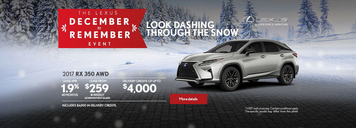 The Lexus December to Remember Event - RX