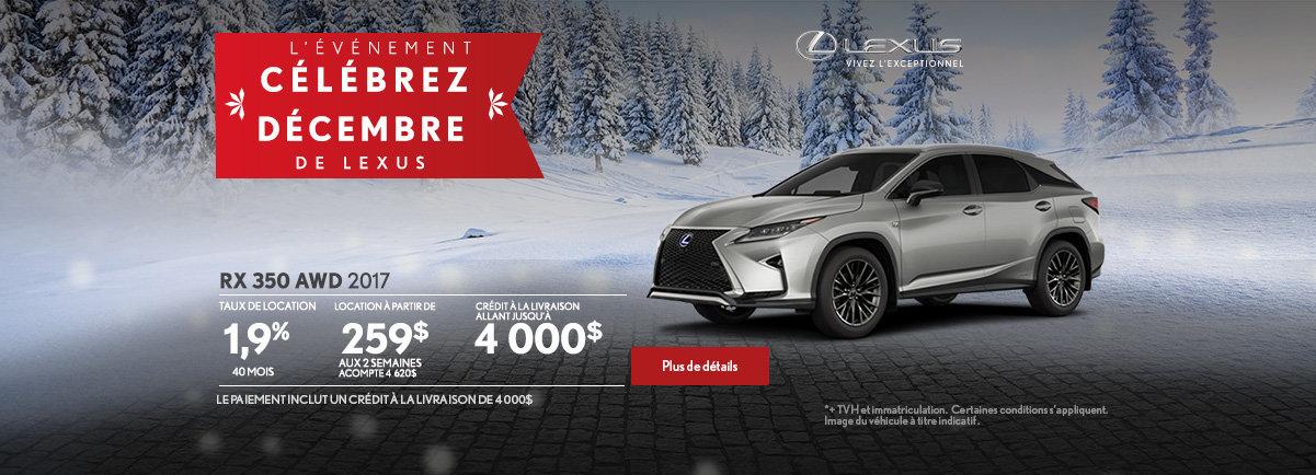 L'événement Célébrez décembre de Lexus - RX