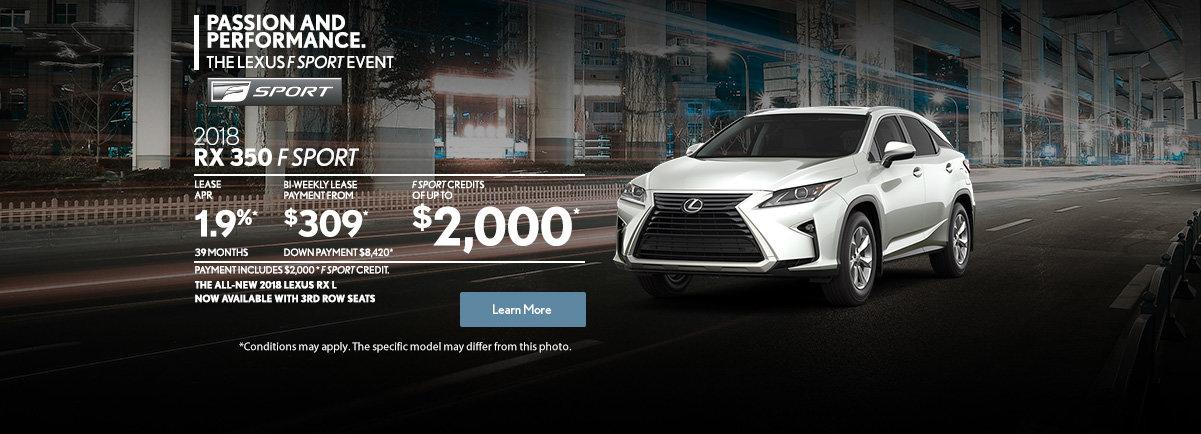 GET THE 2018 LEXUS RX 350 TODAY! (web)