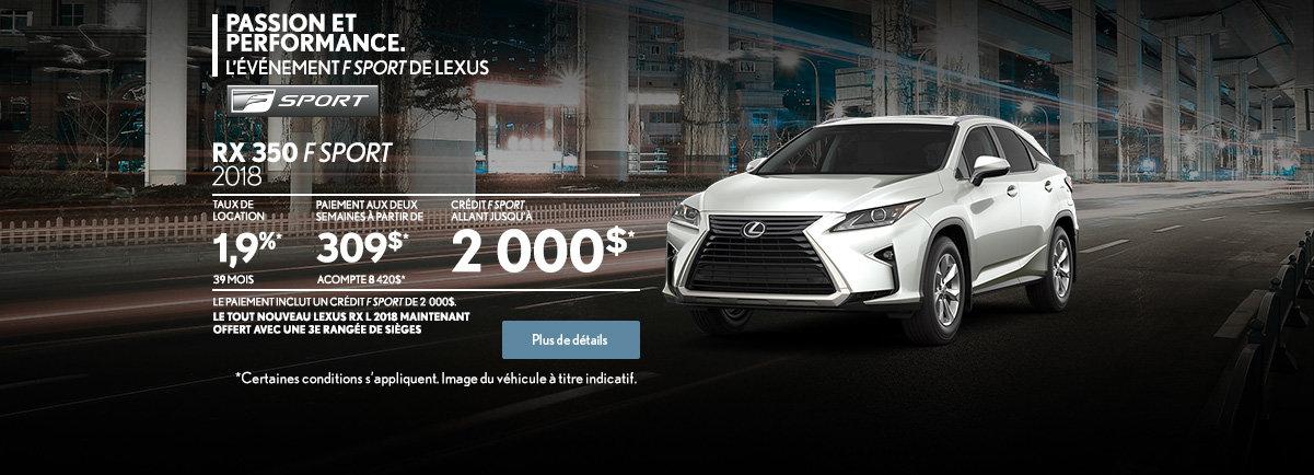 PROCUREZ-VOUS LA LEXUS RX 350 2018! (web)