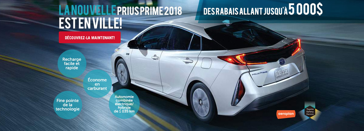 Nouvelle Prius Prime 2018