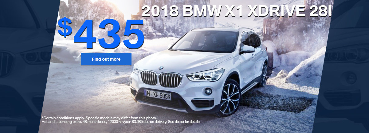 Get the 2018 BMW X1 xDrive 28i