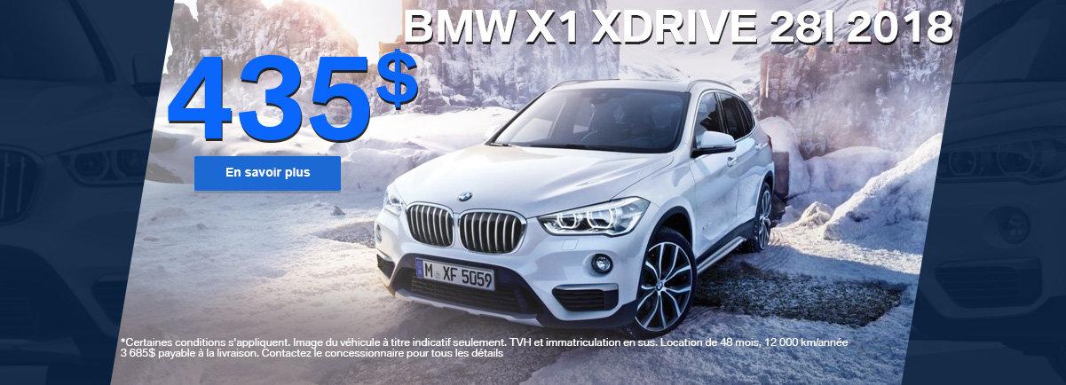 Le BMW X1 xDrive 28i 2018 en rabais