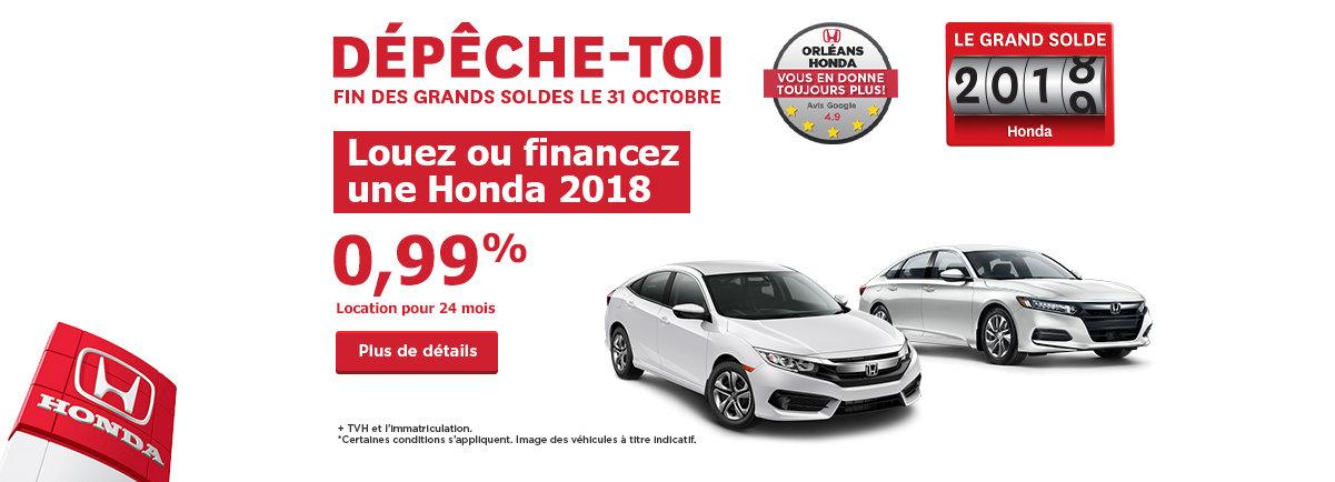 La grande liquidation 2018 de Honda