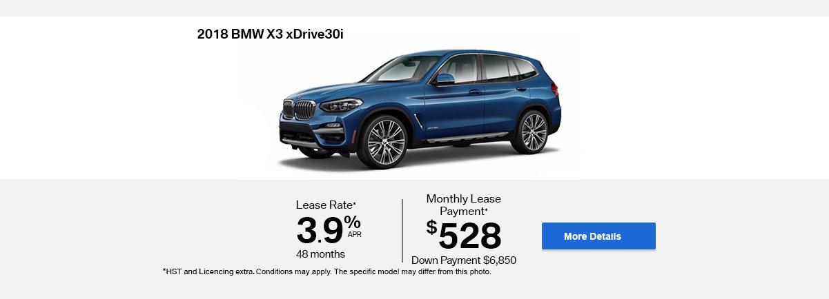 2018 BMW X3 -  Header - Desktop