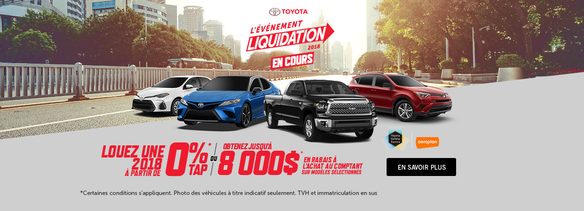 L'événement de Liquidation Toyota - Kingston WEB