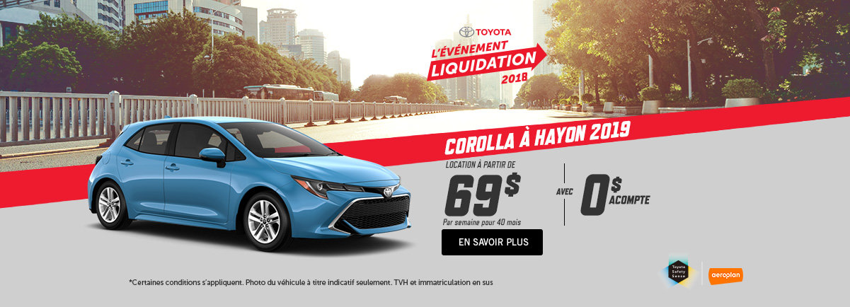 Toyota Corolla 2018 - Kingston