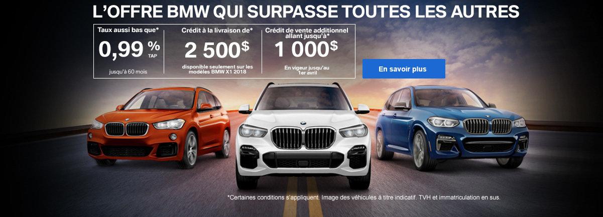Événement BMW - offres spéciales