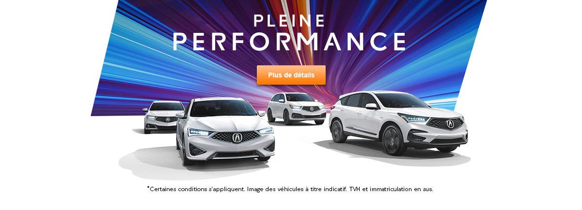 Pleine performance event