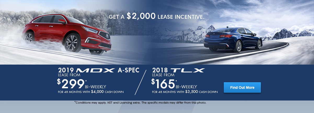 Up to $2,000 in Lease Incentives! (MDX / TLX)