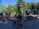 Zone de transition Groupe Vincent : de la sueur et des sourires au triathlon des Défis du Parc!