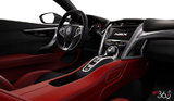 Red Alcantara Leather
