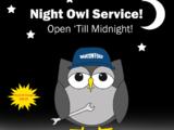 Night Owl Service! - Open 'Till Midnight