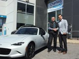 Félicitations M. Boivin pour l'acquisition de votre Mazda MX-5 RF, Chambly Mazda