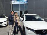 Félicitations Mme. Bellavance pour l'acquisition de votre nouveau Mazda CX5, Chambly Mazda