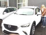 Félicitations Mme Lefebvre pour votre nouvelle Mazda CX3, Chambly Mazda