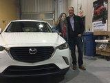 Félicitations à Mme Fontaine pour l'achat de sa Mazda CX3 GS 2017, Chambly Mazda
