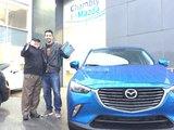 Merci à M. Simon Legros pour votre confiance lors de l'achat de votre nouvelle Mazda CX3 2017, Chambly Mazda