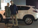 Félicitations à M. Rondeau pour sa nouvelle Mazda CX5, Chambly Mazda